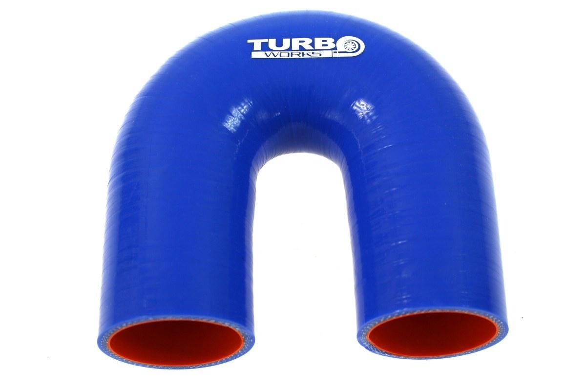 Kolanko 180st TurboWorks Pro Blue 28mm - GRUBYGARAGE - Sklep Tuningowy